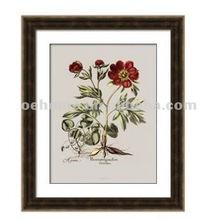 Framed rose oil painting