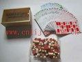 la parte superior de madera de calidad bolas del bingo