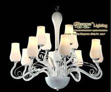 2012 CE Approval Hottest Moroccan Chandelier, Popular Glass Crystal Chandelier White, Tulip Flower Chandelier, Meerosee Lighting