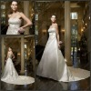 CB-1970 Popular A-line Beading Decoration Strapless New Model 2012 Wedding Dress