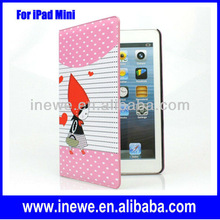 for mini ipad leather case with Hoodwinked pattern
