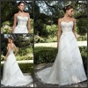 CB-2024 Sweetheart Beaded A-line Drop Waist Wedding Dress