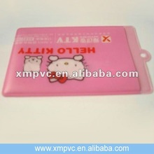Hot sales clear vinyl badge holder with pinky printing XYL-CC404