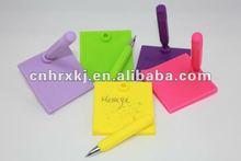 Square Erasable Eco Memo Pad and Colorful Pen