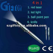 laser pointer led pen with knife