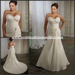 ML070 Hot Sexy Sweetheart Beading Neckline Ruffled Corset Plus Size Women Suzhou Wedding Dress