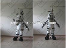 NO.2881 hand make zebra-stripe horse mascot costumes