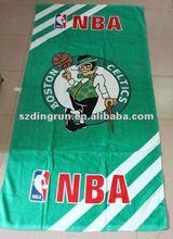 Boston Celtics NBA basketball OEM promotional reactive printed velour beach towel