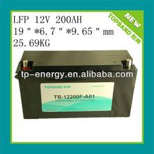high quality 12v 200ah LiFePO4/lithium batteries for solar system