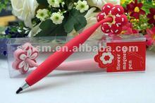 Rubber magnet ball pen 3d pvc promotional magnet pen