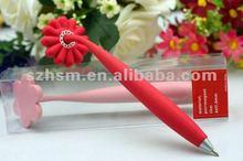 Soft Plastic Ballpoint Pen 3d PVC Promotional Magnet Pen