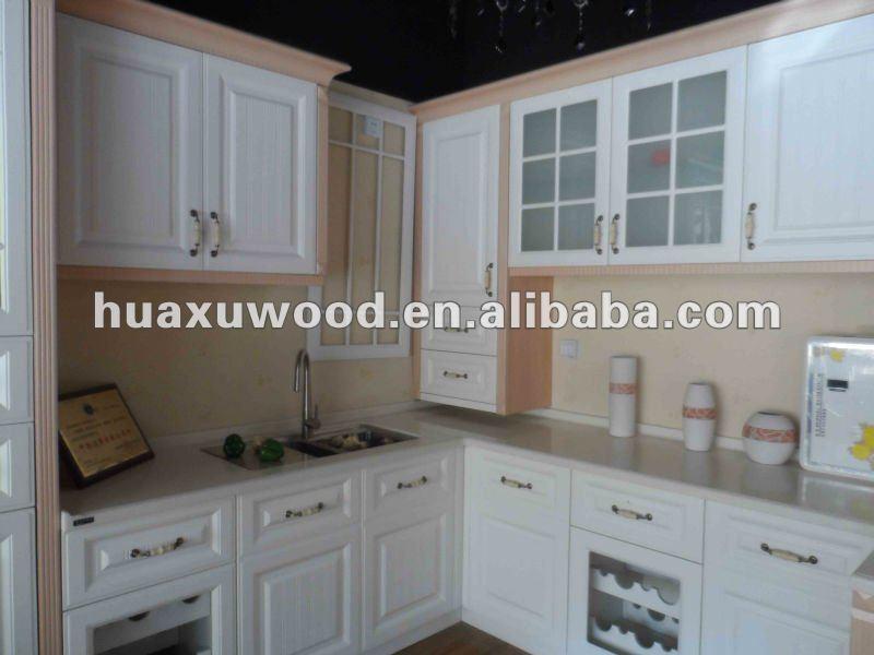 Comercial de madera l forma de la cocina mobiliario de - Muebles de cocina en forma de l ...