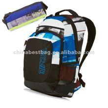 Latest Leisure Photo Stripes Laptop Backpack + Pencil Case - Multicolour
