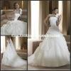 Pn042 New White One Shoulder Mermaid Organza Ruffle Skirt Wedding Dress
