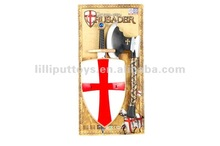 Medieval Crusaders Weapon Toy Set Sword Shield And Axe
