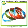 swirl colors silicone bracelets wristbands competitive price