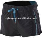 100% polyester men's jogging black short