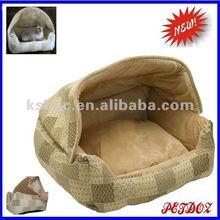 luxury dog bed lounge sleeper hooded pet bed