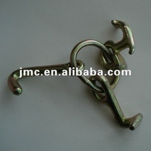 Zinc plated forged r t j hook