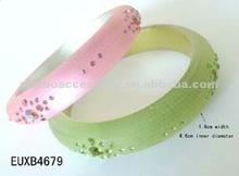 fashion resin/lucite/acrylic/plastic crystal rhinestones jewelry bangle & bracelet