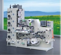 RY-480 flexographic label printing machine with die cutting station, with lamination station, with slitting station