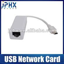 JP1081B USB to RJ45 Ethernet 10/100 Mbps Lan Network Card Adapter - Black