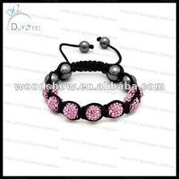 Hot sell 7 bead shamballa bracelet
