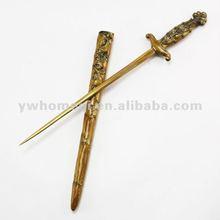 """""""Cool"""" antique paper knife,antique sword,sword letter opener"""