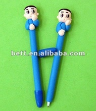 penguin shaped polymer clay promotional pen