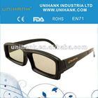 263d plastic frame 3d glasses for video blue film