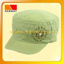 canvas fashion military bush hats, metal studs, enzym wash