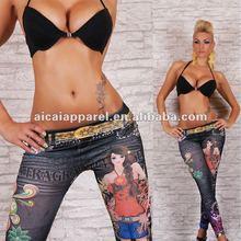 Professional wholesale tight pants seamless pretty girl print tights leggings sex photo