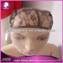 Brown color Lace front wig cap