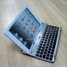 Aluminum Wireless Bluetooth Keyboard Protector Case For iPad Mini P-iPDMINIBTHKB001