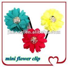 "2012 New Superfine Fibre Chiffon 2.5"" mini flower hair clip"