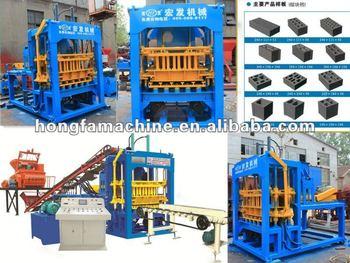 QT4-15D fully automatic cement block machine in Brazil
