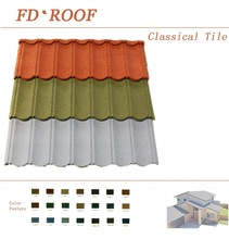 color stone tile roof