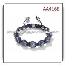 colorful shamballa bracelets wholesale crystal ball woven shamballa bracelet in cheep price AA4168G4
