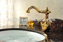 Golden Single Handle Brass Basin Tap bird brass faucet antique brass tap GS10