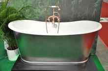 china freestanding cast iron bath/ enamel cast iron bathtub