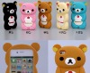 Rilakkuma 3d silicone phone case for iphone 5 5s, for iphone 5 case cartoon ,for iphone case Rilakkuma ,for iphone 5s case 3d