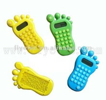 Foot shaped Calculator with maze game