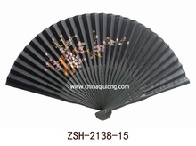 2012 printed wooden folding fan for collection