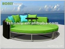 Outdoor furniture round sofa bed HLWL155