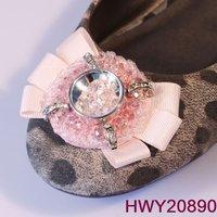 fashion shoe fabric flowers hand-made shoe ornaments for lady