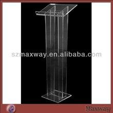 Water High Leg Vertical Assembling Acrylic Speech Lectern Pulpit