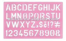 large letter template stencil ruler letter font templates