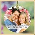 caliente venta de vidrio de nueva decoración de la navidad 2013 con fotos de la boda