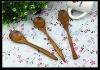 long handle printed beech wooden spoon