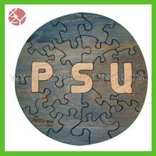 Wooden brain teaser puzzle jigsaw